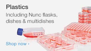 Plastics including Nunc flasks, dishes and multidishes