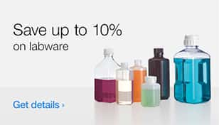 Save up to 10% on labware