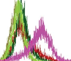 image of a flow cytometry histogram