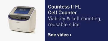 Countess II FL Cell Counter: Viability and cell counting, reusable slide