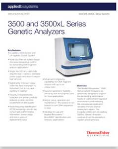 3500 Series Genetic Analyzers Thermo Fisher Scientific