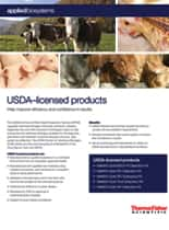 USDA-licensed products flyer
